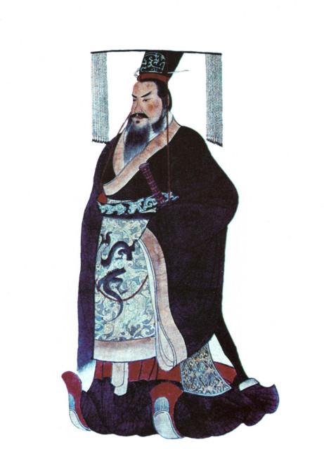 秦の始皇帝のビジュアル