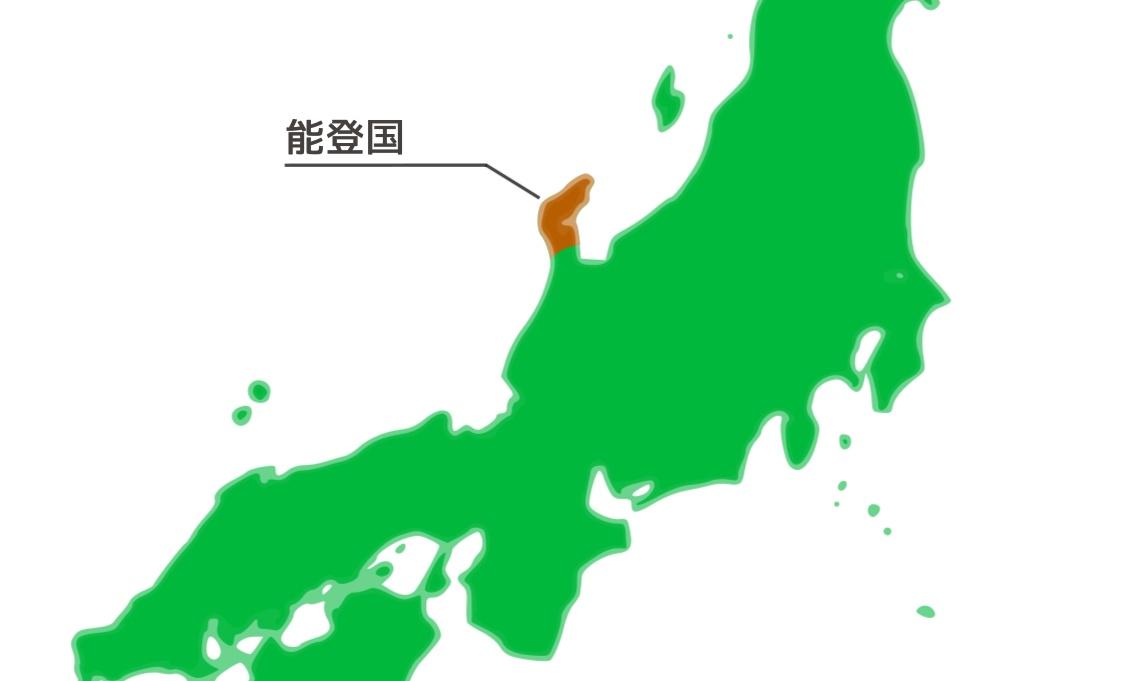 前田利家の領有である能登国の地図